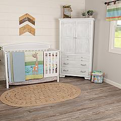 Just Hangin Crib Set (Includes: Crib Quilt, Crib Sheet, Dust Ruffle, Bumper, Valance)