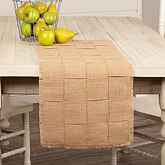 Jute Burlap Natural Basket Weave Runner 13x36