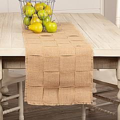 Jute Burlap Natural Basket Weave Runner 13x48