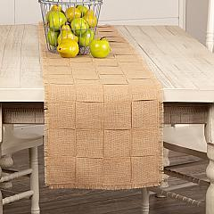 Jute Burlap Natural Basket Weave Runner 13x72