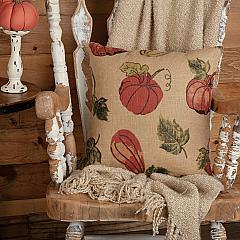 Jute Burlap Natural Harvest Garden Pillow 18x18