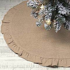 Jute Burlap Natural Mini Tree Skirt 21