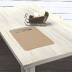 Jute Burlap Natural Placemat Set of 6 12x18