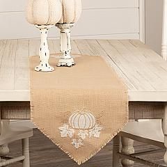Jute Burlap Natural Pumpkin Runner 13x48