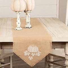 Jute Burlap Natural Pumpkin Runner 13x72