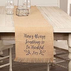 Jute Burlap Natural Thankful Runner 13x72