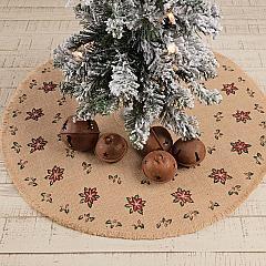 Jute Burlap Poinsettia Mini Tree Skirt 21