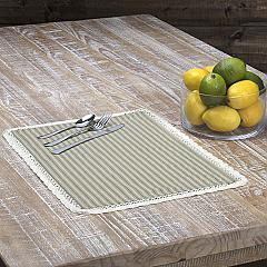 Kendra Stripe Green Placemat Set of 6 12x18