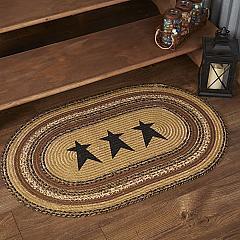 Kettle Grove Jute Rug Oval Stencil Star 24x36