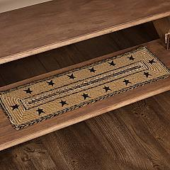 Kettle Grove Jute Stair Tread Stencil Stars Border Rect Latex 8.5x27