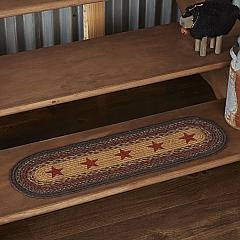 Landon Jute Stair Tread Stencil Stars Oval Latex 8.5x27