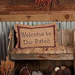 Landon Welcome to Our Patch Pillow 14x22