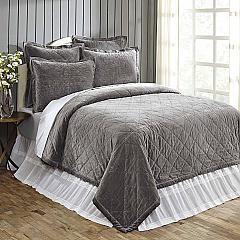 Lydia Smoke Queen Quilt 92Wx92L
