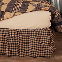 Navy Check Twin Bed Skirt 39x76x16