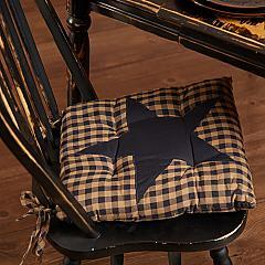 Navy Star Chair Pad