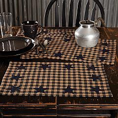 Navy Star Placemat Set of 6 12x18