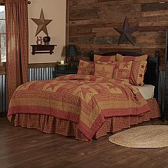 Ninepatch Star Luxury King Quilt 120Wx105L