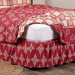 Paloma Crimson King Bed Skirt 78x80x16