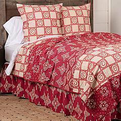 Paloma Crimson King Quilt 105Wx95L