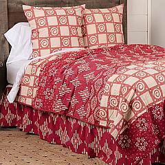 Paloma Crimson Queen Quilt 90Wx90L