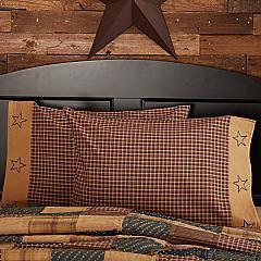 Patriotic Patch Standard Pillow Case Set of 2 21x30
