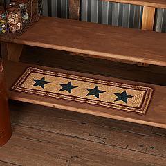 Potomac Jute Stair Tread Stencil Stars Rect Latex 8.5x27