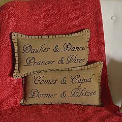 Prancer Pillow Set of 2 7x13