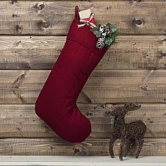 Red Felt Stocking 12x20