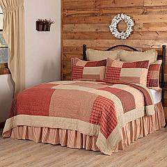Rory Schoolhouse Red California King Quilt 130Wx115L