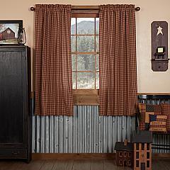 Patriotic Patch Plaid Short Panel Set of 2 63x36