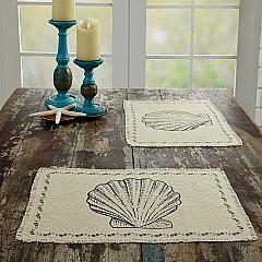 Sandy Creme Burlap Placemat Set of 6 12x18
