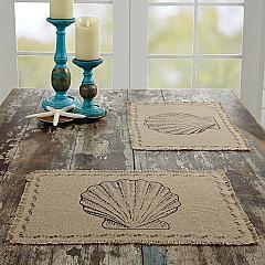 Sandy Tan Burlap Placemat Set of 6 12x18