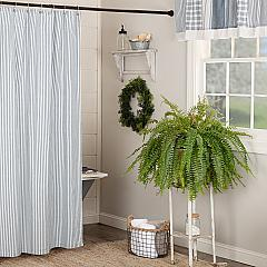 Sawyer Mill Blue Ticking Stripe Shower Curtain 72x72