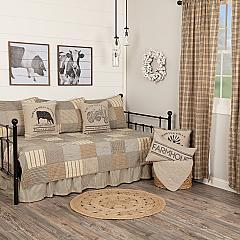 Sawyer Mill Charcoal 5pc Daybed Quilt Set (1 Quilt, 1 Bed Skirt, 3 Standard Shams)