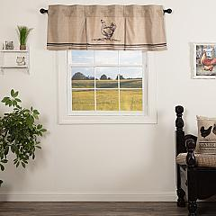 Sawyer Mill Charcoal Chicken Valance Pleated 20x60