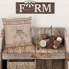 Sawyer Mill Charcoal Corn Feed Pillow 18x18