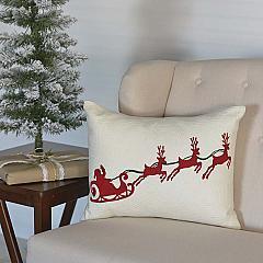 Santa Sleigh Pillow 14x18