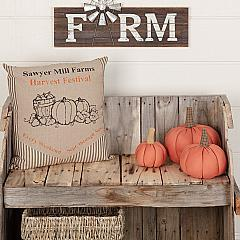 Sawyer Mill Charcoal Harvest Festival Pillow 18x18
