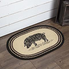 Sawyer Mill Charcoal Pig Jute Rug Oval 20x30