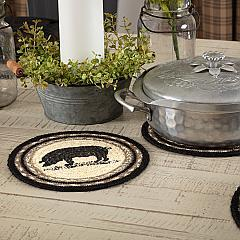 Sawyer Mill Charcoal Pig Jute Trivet 8