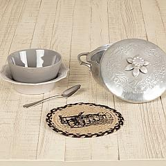 Sawyer Mill Charcoal Plow Jute Trivet 8