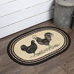 Sawyer Mill Charcoal Poultry Jute Rug Oval 20x30