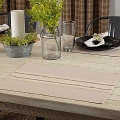 Sawyer Mill Charcoal Stripe Placemat Set of 6 12x18