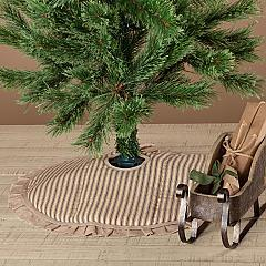 Sawyer Mill Charcoal Ticking Stripe Mini Tree Skirt 21