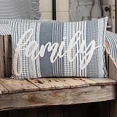Sawyer Mill Blue Family Pillow 14x22