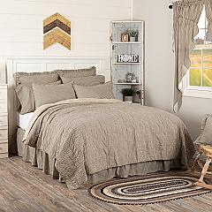 Sawyer Mill Charcoal Ticking Stripe Queen Quilt Coverlet 90Wx90L