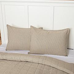 Sawyer Mill Charcoal Ticking Stripe Standard Sham 21x27