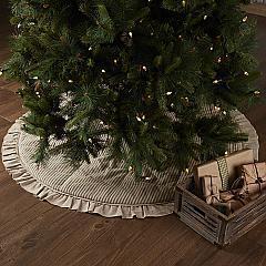Sawyer Mill Charcoal Ticking Stripe Tree Skirt 55