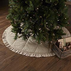 Sawyer Mill Charcoal Ticking Stripe Tree Skirt 60