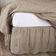 Sawyer Mill Charcoal Ticking Stripe Twin Bed Skirt 39x76x16